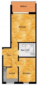Skizze 2 der Wohnung von Betreutes Wohnen Potsdam