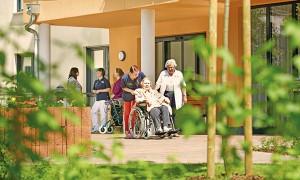 Eingangsbereich vom Pflegewohnstift Gohlis