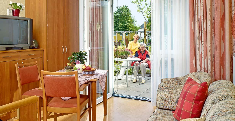 Einzelzimmer im Pflegeheim Pattensen