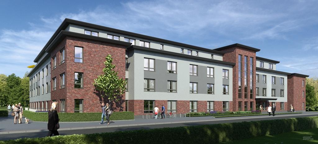 Das neue Pflegewohnstift der DSG in der Bützower Straße in Rostock