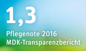 MDK-Note 1,3 Pflegezentrum Irenenstift