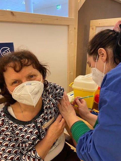 Impftermin im Pflegeheim Hönow