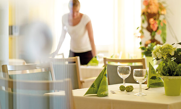 Der Essensraum im Altenheim Potsdam