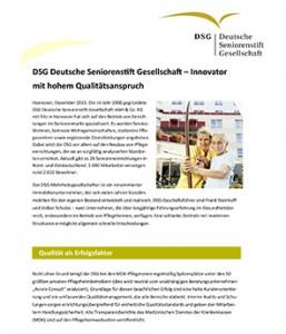 Pressemappe Deutsche Seniorenstift Gesellschaft