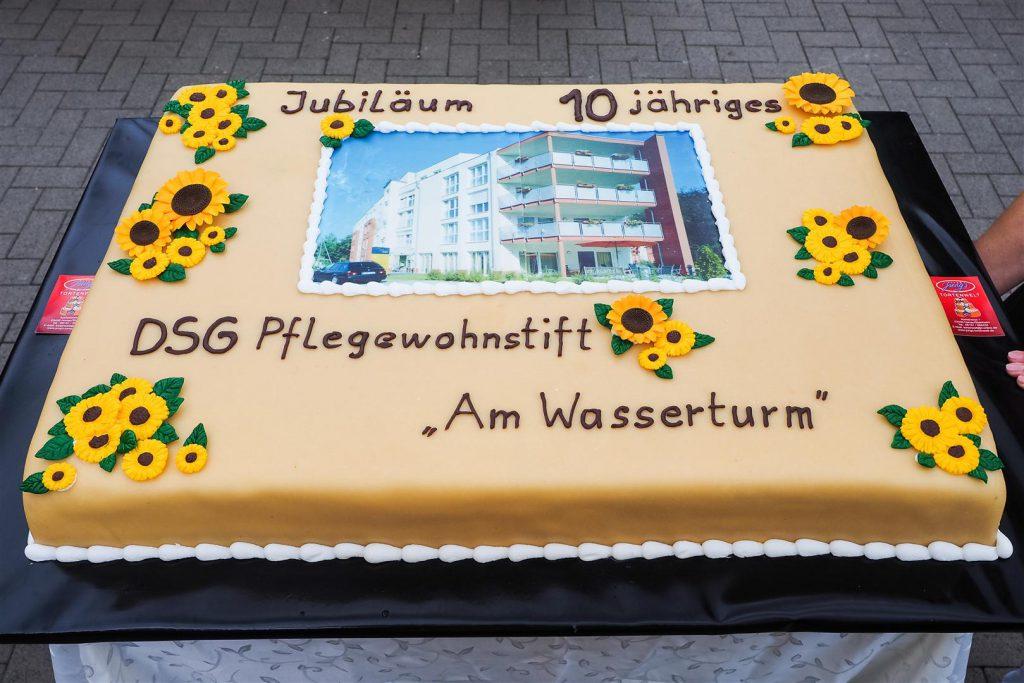 Die Jubiläumstorte des Pflegeheims Frankfurt