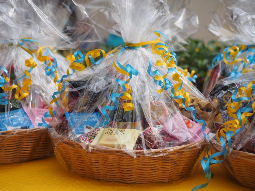 Die Verlosungsgeschenke des Pflegeheims Frankfurt