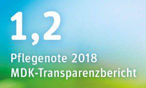 Pflegenote 2018 des Pflegeheims Garbsen im MDK-Transparenzbericht: 1,2