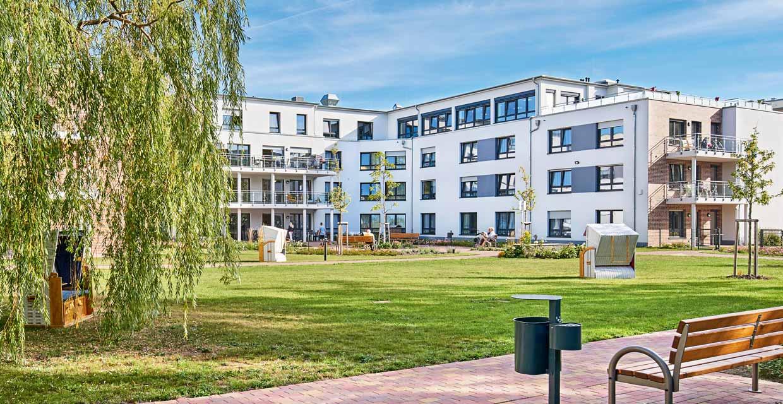 Das Pflegeheim Rostock von außen