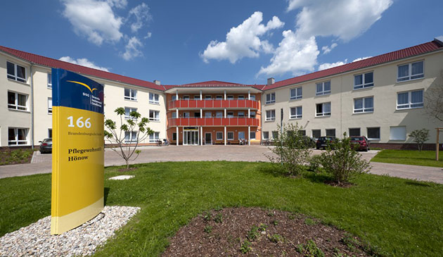 Das Pflegewohnstift Hönow/Hoppegarten von außen